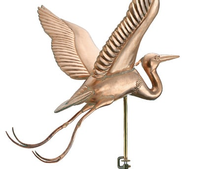 Good Directions Signature Blue Heron Weathervane Details
