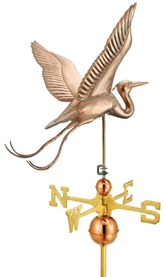 Good Directions Blue Heron Signature Weathervane