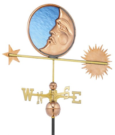 Good Directions Stained Glass Moon Weathervane