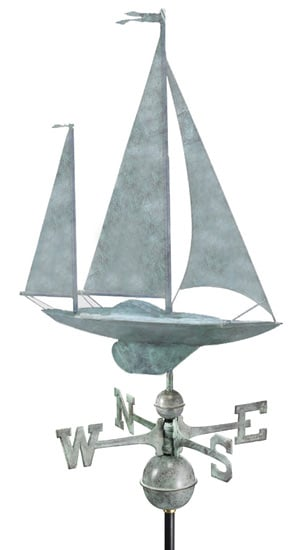 Good Directions Copper Yawl Weathervane