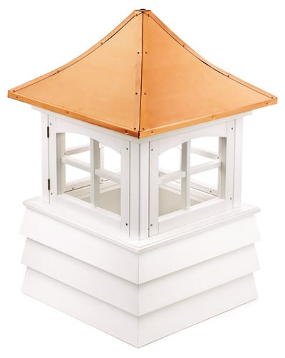 Good Directions Guilford White Vinyl Cupola