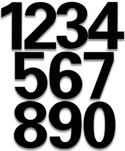 HouseArt Satin Black bFuller House Numbers