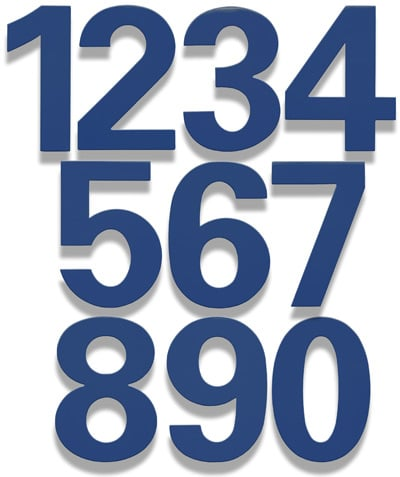 HouseArt Bonita Blue bFuller House Numbers