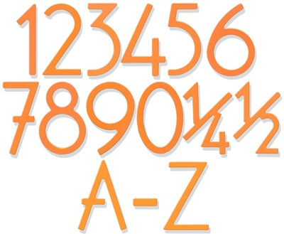 Miami Mango Finish 5 Inch House Numbers and Letters