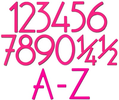 HouseArt Pink House Address Numbers Letters