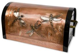 Hentzi Rugged Rural Mailbox Dragonflies Wheat