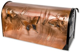 Hentzi Rural Copper Mailbox Summer Butterflies