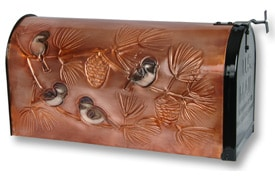 Hentzi Rural Copper Mailbox Classic Chickadee