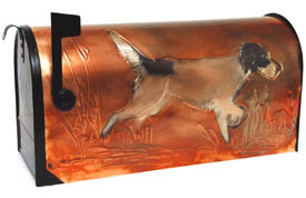 Hentzi Rural Copper Mailbox English Setter