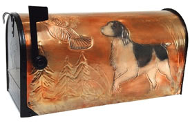 Hentzi Rural Copper Mailbox Springer Spaniel