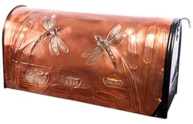 Hentzi Rural Copper Mailbox Summer Dragonflies