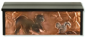 Henzti Wall Mount Mailbox Bear Cubs