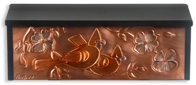 Hentzi Copper Locking Wall Mount Mailboxes