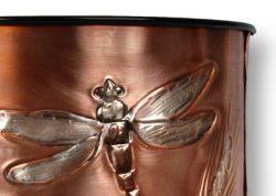 Dragonfly Waste Basket Close Up