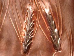 Wheat Waste Basket Close Up