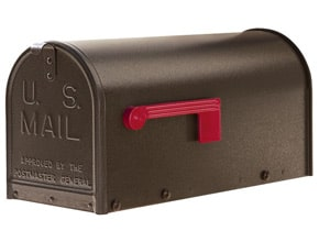Janzer Mailboxes Textured Bronze