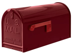 Janzer Mailboxes Gloss Burgundy