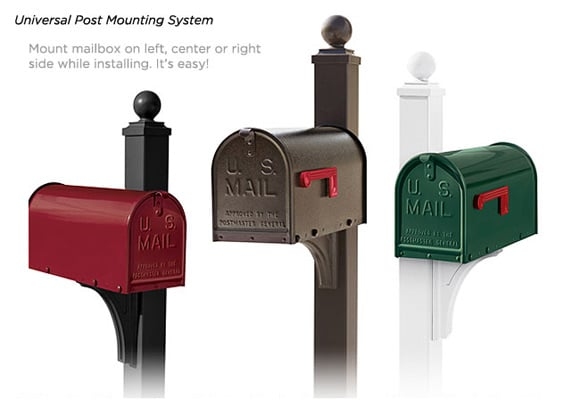 Janzer Mailboxes Universal Post Mounting System