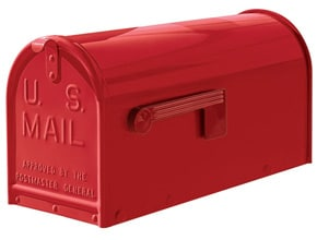 Janzer Mailboxes Gloss Red