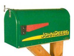 John Deere Logo Rural Novelty Mailbox