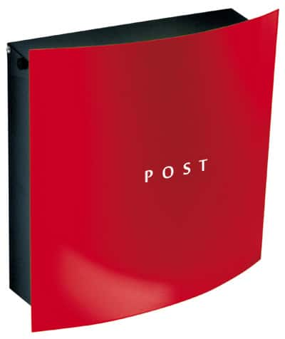 "Knobloch Dessau ""Post"" Red Locking Wall Mount Mailbox"