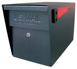 Mail Boss Post Mount Mailbox Black