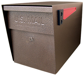 Mail Boss Post Mount Mailbox Bronze