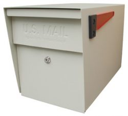 Mail Boss Post Mount Mailbox White