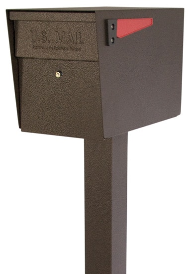 Mail Boss Locking Mailbox With Post