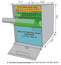 Mail Boss Package Master Mailbox Specs
