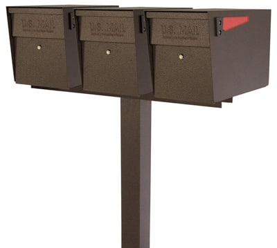 Mail Boss Locking Mailboxes Triple Post