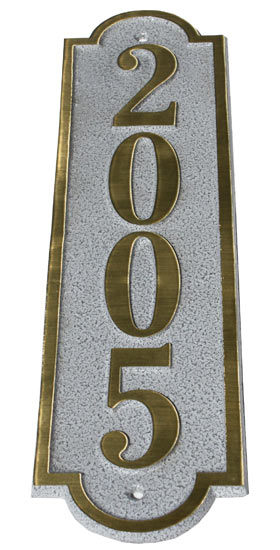 Majestic Solid Brass Alberta Address Plaques
