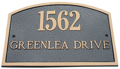 Majestic Solid Brass Camden Address Plaques