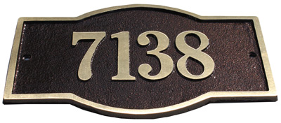 Majestic Solid Brass Harmony Address Plaques