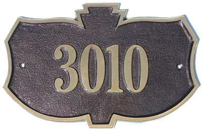 Majestic Solid Brass Kozak Address Plaques