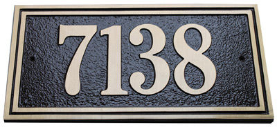 Majestic Solid Brass Large Double Border Address Plaques