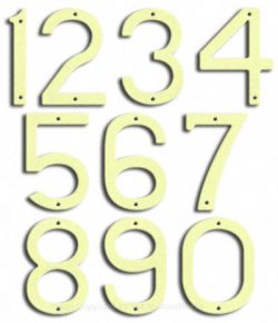 Large Brilliant White House Numbers Majestic 10