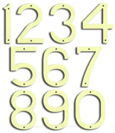 Large Brilliant White House Numbers by Majestic 10 Inch