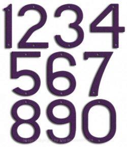 Large Deep Purple House Numbers Majestic 10