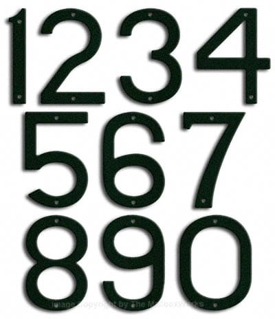 Large Forest Green House Numbers Majestic 10