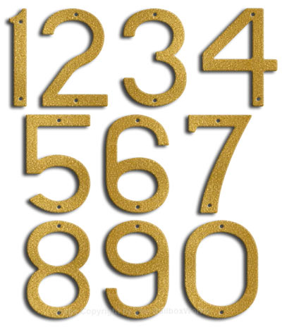 Large Gold House Numbers by Majestic 10 Inch