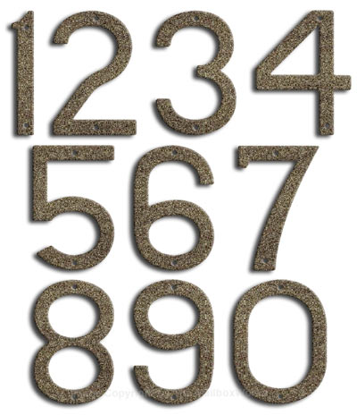Large Natural Stone House Numbers by Majestic 10 Inch