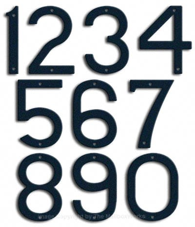Large Navy Blue House Numbers by Majestic 10 Inch