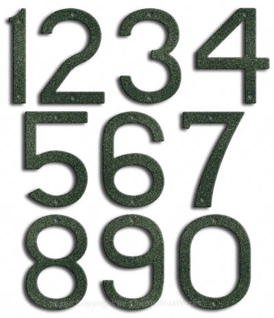 Large Patina House Numbers Majestic 10