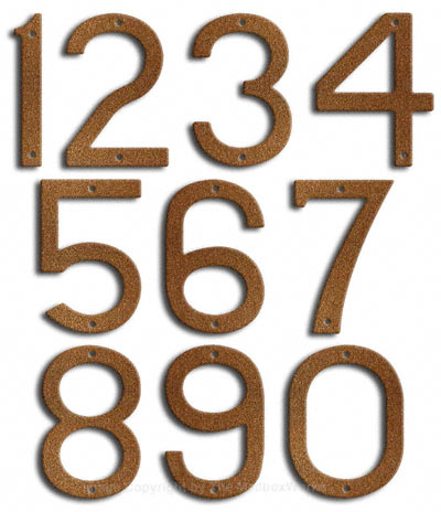 Large Rust House Numbers Majestic 10