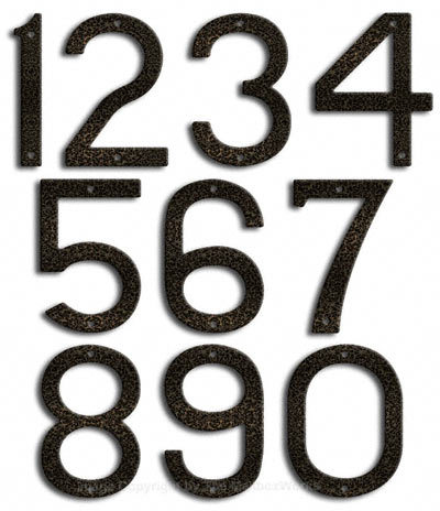Large Silver Vein House Numbers Majestic 10