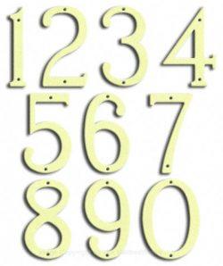 Medium Brilliant White House Numbers Majestic