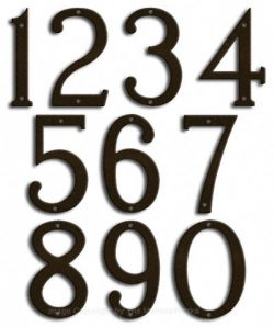 Medium Bronze House Numbers Majestic 8
