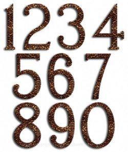 Medium Copper Vein House Numbers Majestic