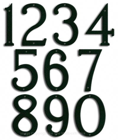 Medium Forest Green House Numbers by Majestic 8 Inch